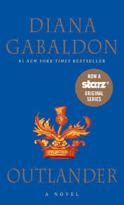 Diana Gabaldon's book cover for Outlander.